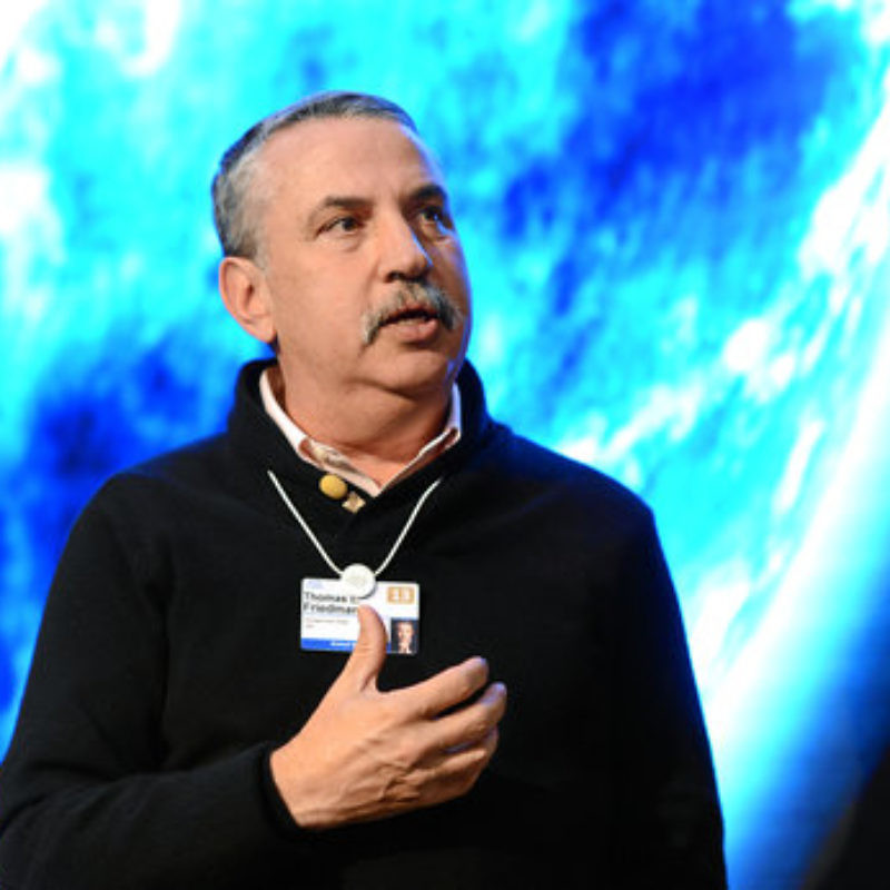 New York Times writer and author Thomas Friedman. Credit: World Economic Forum.