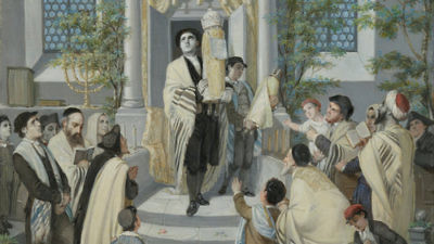 Click photo to download. Caption: An illustration of the Shavuot holiday. Credit:   Moritz Daniel Oppenheim - Google Art Project via Wikimedia Commons.