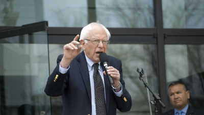 Sen. Bernie Sanders speaks at a rally in Raleigh, N.C., in March 2016. Credit: Scott Pelkey ne014x/Flickr.