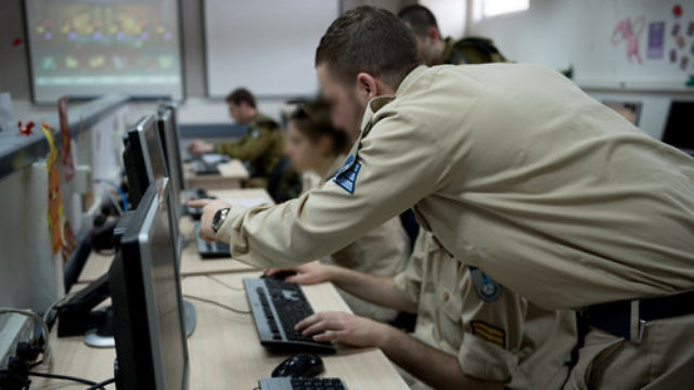 A group of Israel Defense Force cyber cadets during a training exercise in March. Credit: IDF.