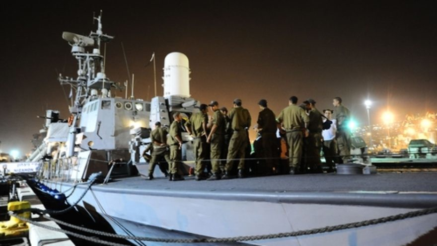 On May 29, 2010, Israeli naval forces prepare to implement the Israeli government's decision to prevent a Turkish flotilla from breaching the maritime blockade on the Gaza Strip. Two days later, clashes aboard the Mavi Marmara flotilla that resulted in the deaths of nine Turkish militants spawned the deterioration of Israel-Turkey relations. Credit: Michael Shvadron, IDF Spokesperson's Unit.