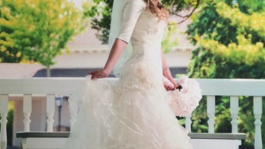 """Click photo to download. Caption: One of Fashion-Isha blogger Sharon Langert's favorite looks for an Orthodox-Jewish bride, from her recent post titled """"Wedding Wednesday: The Real Wedding Dresses of the Frum and Fabulous."""" Credit: Morris Antebi Photography."""