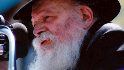 Click photo to download. Caption: The Lubavitcher Rebbe. Credit: Wikimedia Commons.