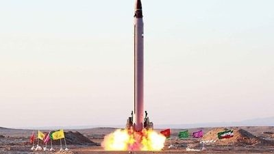An Iranian ballistic-missile test in October 2015. Credit: Mohammad Agah via Wikimedia Commons.