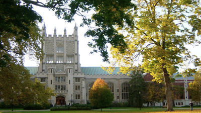 Click photo to download. Caption: Thompson Library at Vassar College in Poughkeepsie, N.Y. Credit: Noteremote via Wikimedia Commons.