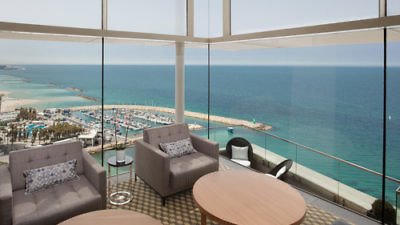 The Vista Club at the Tel Aviv Hilton. Credit: Courtesy Hilton.