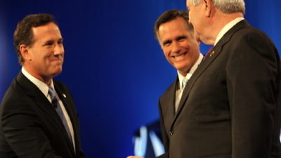 As Mitt Romney, Newt Gingrich and Rick Santorum gear up for Super Tuesday, analysts weigh in on which candidate has the best shot with Jewish voters. Credit: EPA/ROY DABNER .