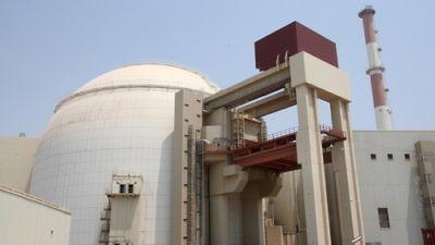 Iranian nuclear power plant in Bushehr in southern Iran. Credit: EPA/Abedin Taherkenareh.