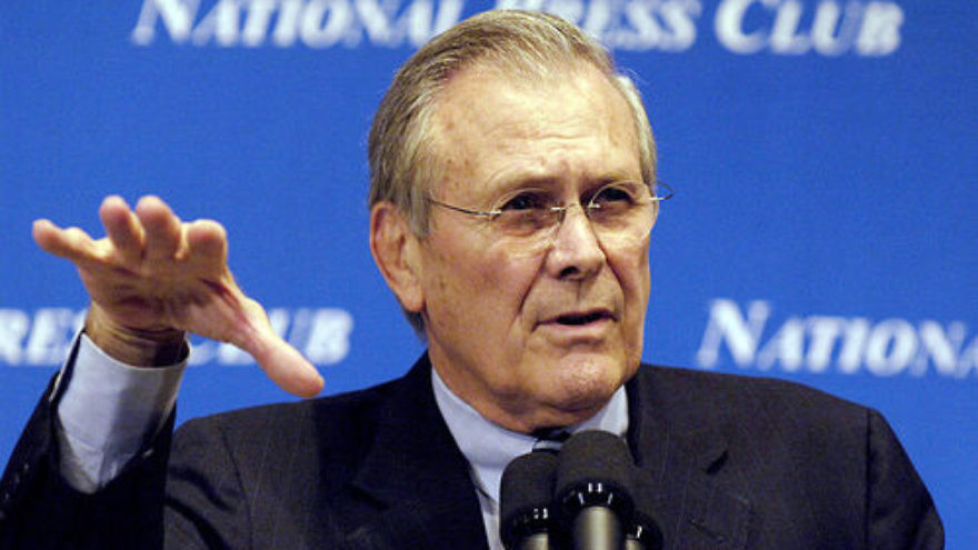 Click photo to download. Caption: Former U.S. defense secretary Donald Rumsfeld. Credit: Chad J. McNeeley/Department of Defense.