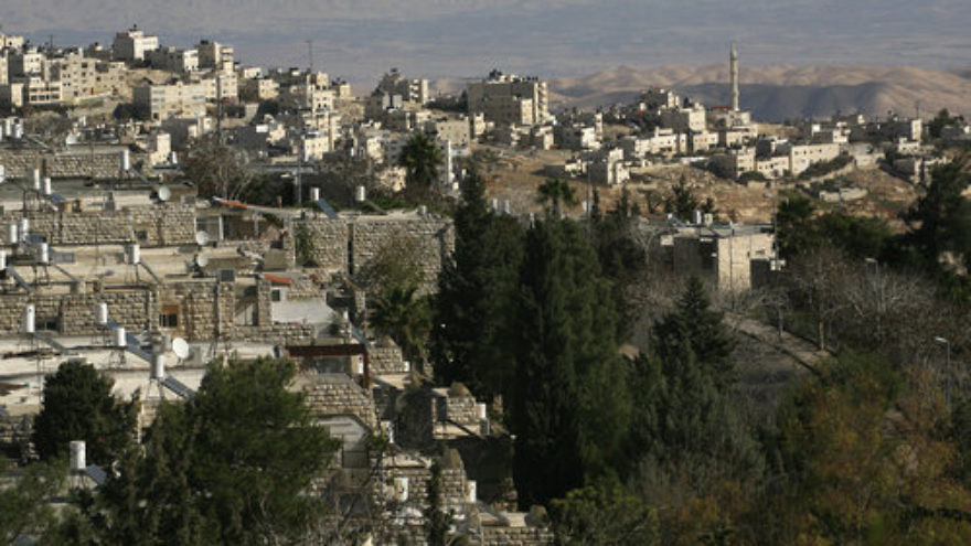 "A view of the Jerusalem Jewish neighborhood of French Hill and the Arab neighborhood of Al-Zaim. The United Nations describes French Hill as being situated in the ""occupied Palestinian territory"" of ""East Jerusalem."" Credit: Nati Shohat/Flash90."