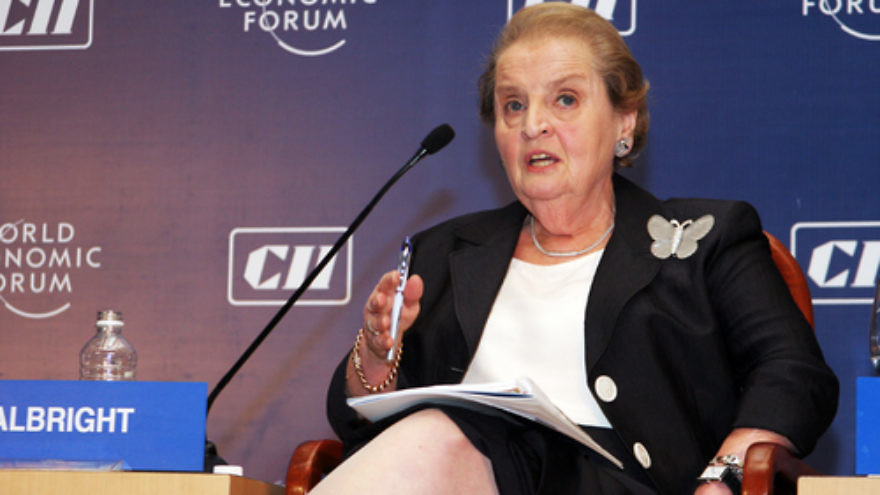 Click photo to download. Caption: Madeleine Albright. Credit: World Economic Forum.