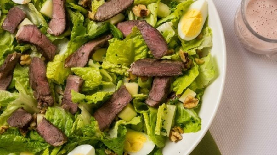 Click photo to download. Caption: Paula Shoyer's seder plate salad. Credit: The New Passover Menu.