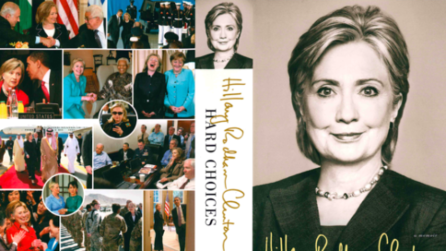 """Click photo to download. Caption: The front and back cover of Hillary Clinton's new memoir, """"Hard Choices."""" Credit: Simon & Schuster."""