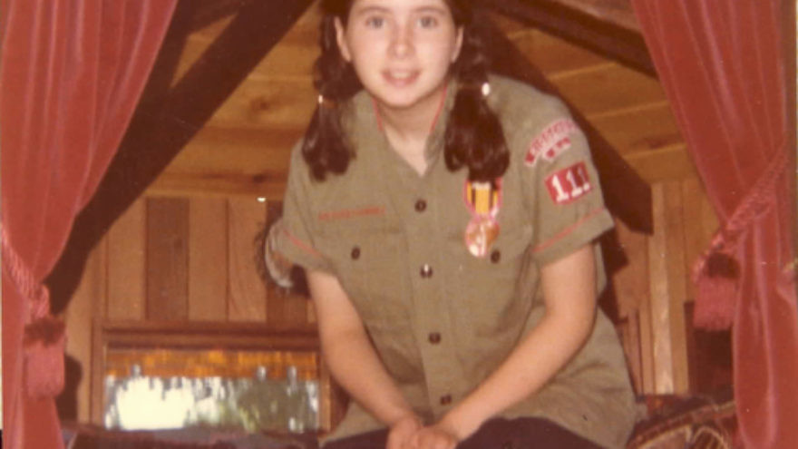 Click photo to download. Caption: Dawn Lerman, age 15 in this photo, at summer camp. Credit: Courtesy Dawn Lerman.