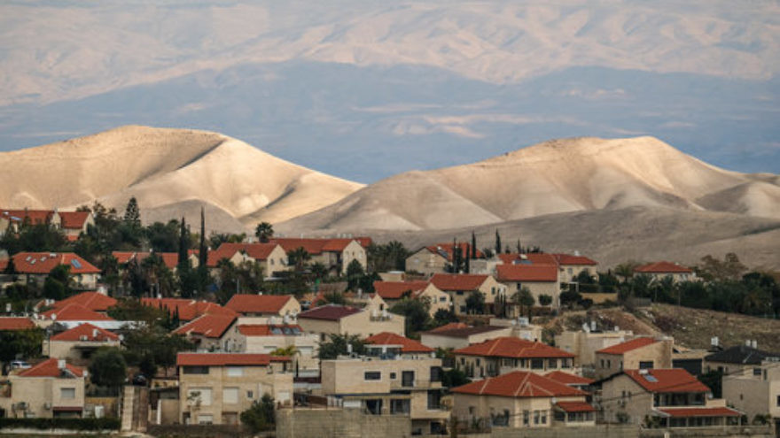 A view of the Israeli settlement of Ma'ale Adumim, Jan. 4, 2017. Credit: Yaniv Nadav/Flash90.