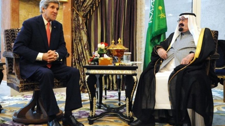 Click photo to download. Caption: U.S. Secretary of State John Kerry (left) meets with King Abdullah of Saudi Arabia on Jan. 5, 2014. Credit: U.S. Department of State.