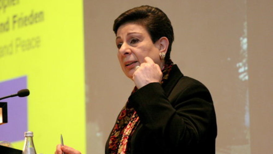 Hanan Ashrawi (pictured) has served as a spokesperson for the Palestinian Authority and the Palestine Liberation Organization to American audiences for more than two decades. Credit: Carsten Sohn via Wikimedia Commons