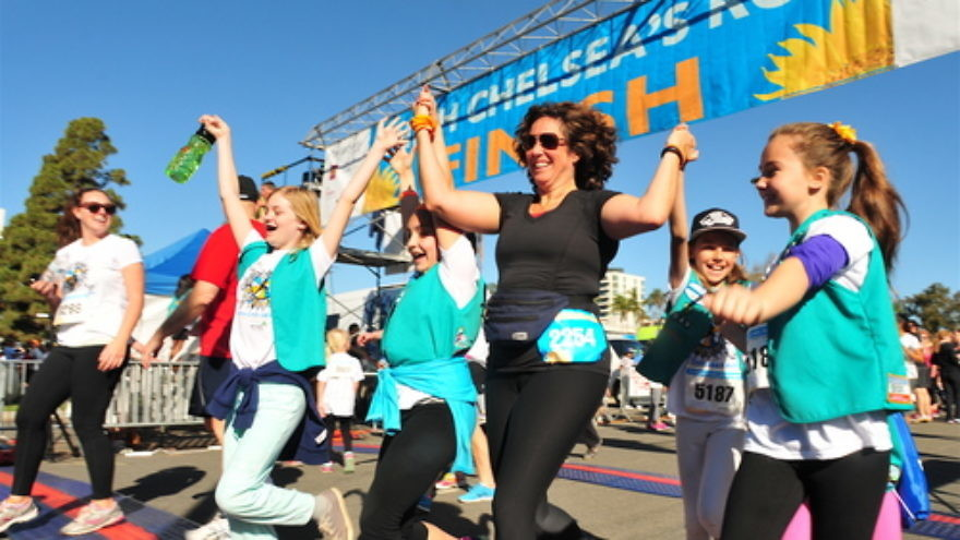 Click photo to download. Caption: San Diego Unified School District Superintendent Cindy Marten (runner #2254, wearing black) participates in the Finish Chelsea's Run charity fundraiser. Credit: Paul Nestor.