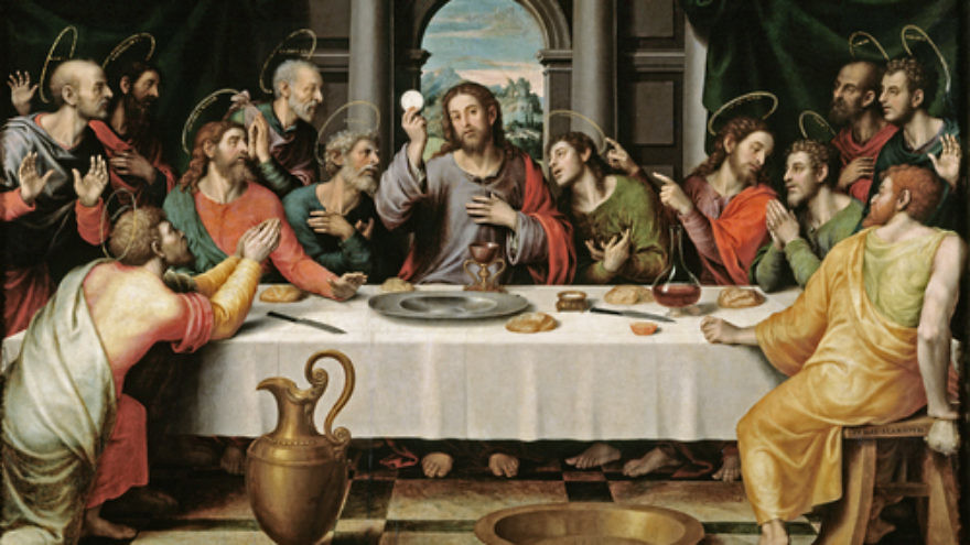 Click photo to download. Caption: An illustration of the Last Supper. Credit: Vicente Juan Masip via Wikimedia Commons.