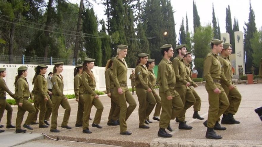 Click photo to download. Caption: A Yom Hazikaron military remembrance ceremony in Tel-Hashomer, Israel. Credit: Avishai Teicher.