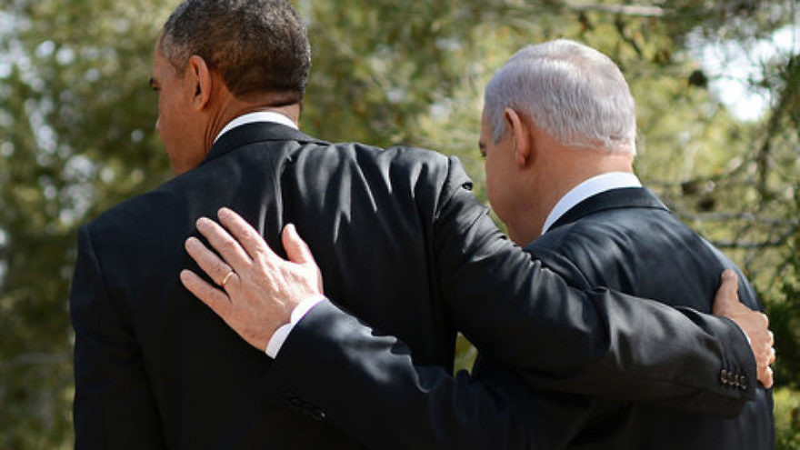 President Barack Obama and Prime Minister Benjamin Netanyahu in Jerusalem during Obama's visit to Israel in 2013. Credit: Kobi Gideon/GPO via Getty Images.