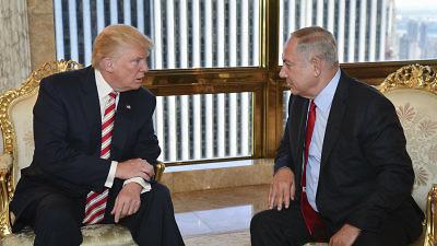 Republican nominee Donald Trump meeting with Israeli Prime Minister Benjamin Netanyahu at Trump Tower on Sept. 25, 2016. Credit: Kobi Gideon/GPO.