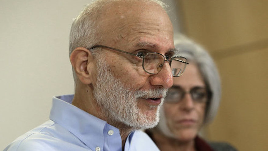 Alan Gross and his wife Judy at a press conference on the day of his release, Dec. 17, 2014 in Washington, D.C. Credit: Win McNamee/Getty Images.