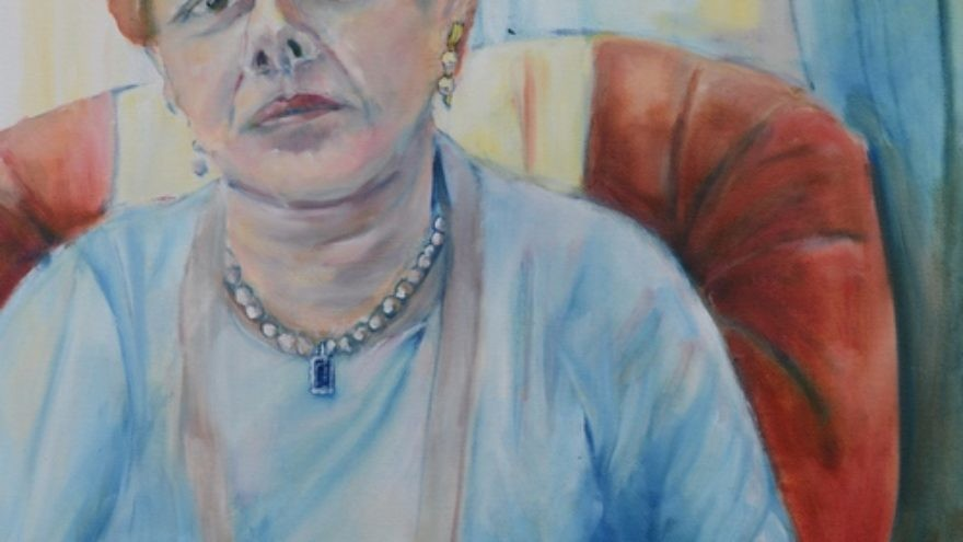 Click photo to download. Caption: Diana Muller's portrait of Irish Holocaust survivor Suzie Diamond. Credit: Diana Muller.