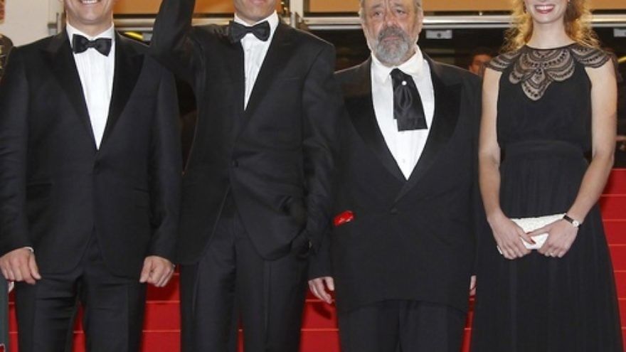 "Click photo to download. Caption: (L-R) Israeli actor Lior Ashkenazi, Israeli director Joseph Cedar, Israeli actor Micah Lewensohn and Israeli actress Yuval Scharf arrive for the screening of ""Footnote"" during the 64th Cannes Film Festival in Cannes, France, on May 14, 2011. Cedar's film is up for an Academy Award and debuts in the U.S. on March 9. Credit: EPA/GUILLAUME HORCAJUELO"