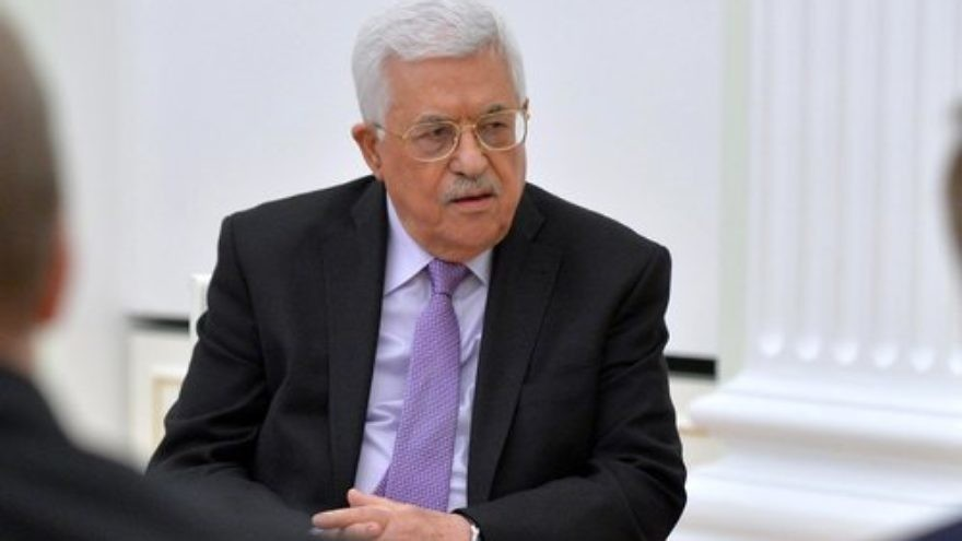 "Click photo to download. Caption: Palestinian Authority President Mahmoud Abbas (pictured) has governed with an expired term since 2009. Columnist Stephen M. Flatow asks: ""What would be the reaction if Israel had done that?"" Credit: Kremlin.ru via Wikimedia Commons."