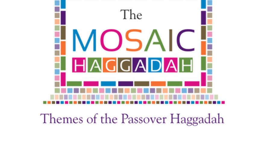 "Click photo to download. Caption: The cover of ""The Mosaic Haggadah,"" by David Silberman. Credit: Haggadah Publishing."