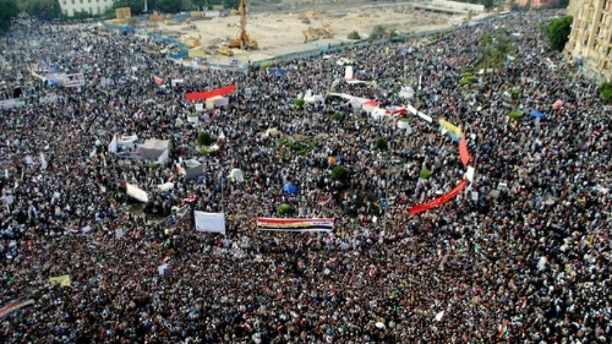 The scene from Tahrir Square in Egypt. Credit: The Egyptian Liberal.