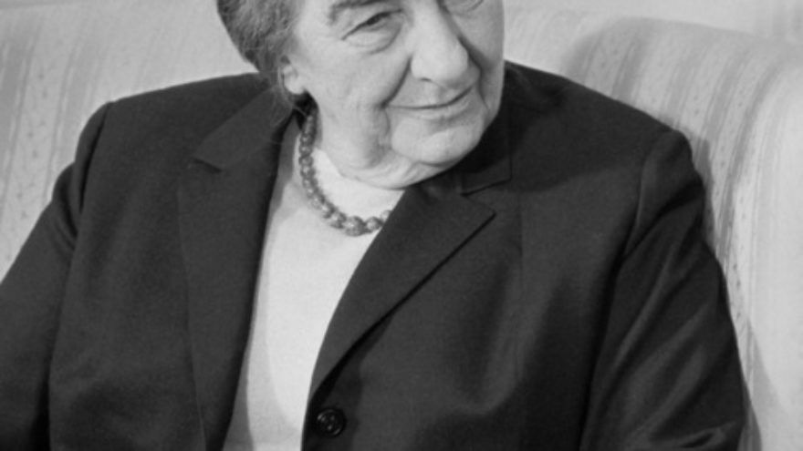 Click photo to download. Caption: Former Israeli prime minister Golda Meir. Credit: Library of Congress via Wikimedia Commons.
