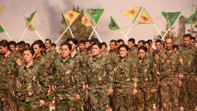 Syrian Kurdish YPG fighters. Credit: Flickr.
