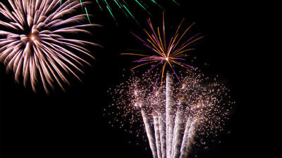 Click photo to download. Caption: New Year's fireworks. Credit: Graham Crumb via Wikimedia Commons.
