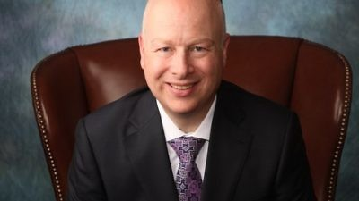 Jason Greenblatt, special representative for international negotiations for the Trump administration. Credit: The Trump Organization.