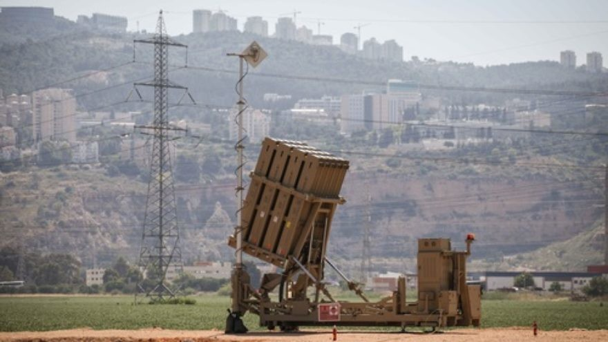 A view of an Iron Dome anti-missile battery near the northern Israeli town of Haifa. Credit: Avishag Shaar Yashuv/ Flash90.