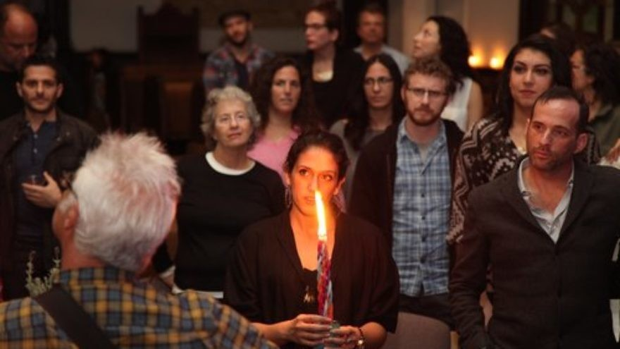A Jewish Havdalah service marking the end of Shabbat in Los Angeles. Credit: Reboot.