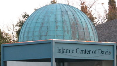 "The leader of the California-based Islamic Center of Davis (pictured) said in July, ""Oh Allah, liberate the Al-Aqsa mosque from the filth of the Jews...count them one by one and annihilate them down to the very last one."" Credit: LocalWiki."