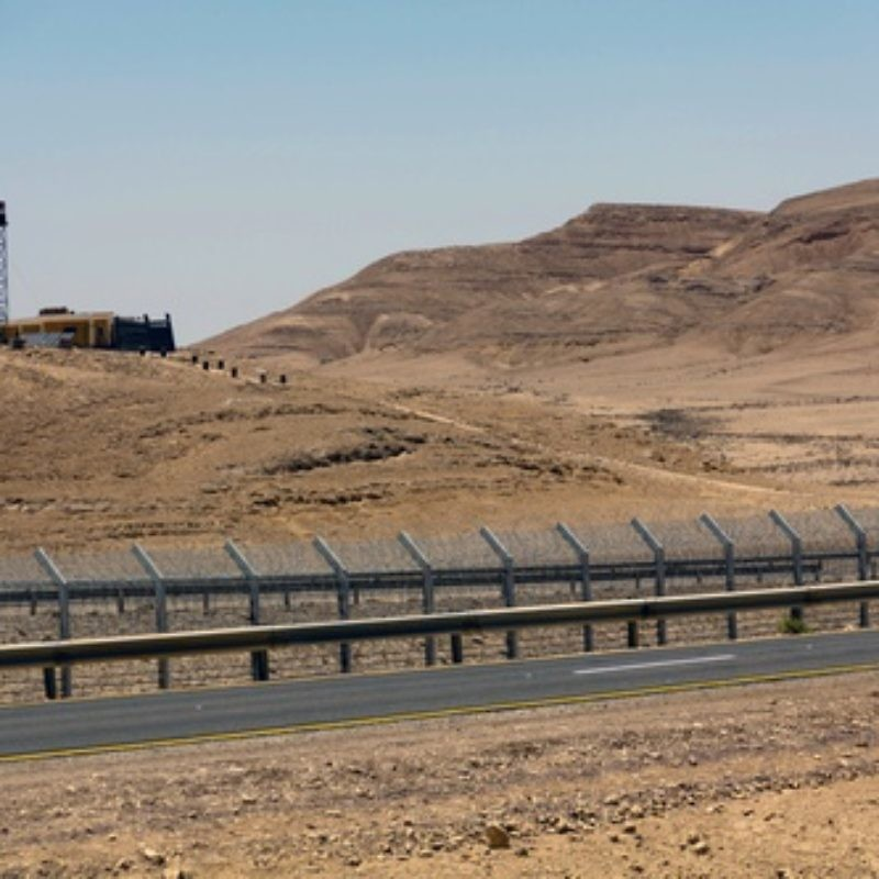 The security fence along the Israel-Egypt border, built in 2012. Israel is monitoring the situation in the Sinai region amid turmoil in Egypt following the ouster of President Mohamed Morsi. Credit: Idobi via Wikimedia Commons.