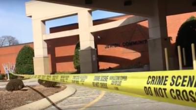 The scene outside the JCC in Nashville, Tenn., following a bomb threat Jan. 9. Credit: YouTube.