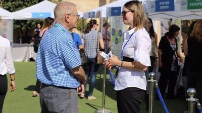 The late-May Negev conference matching employers with social organizations representing job-seekers from overlooked population sectors. Credit: Tor HaMidbar via Facebook.
