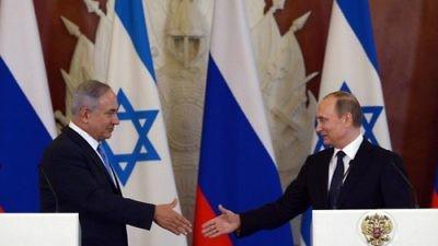 Israeli Prime Minister Benjamin Netanyahu (left) and Russian President Vladimir Putin meet in Moscow in June 2016. Credit: Haim Zach/GPO.