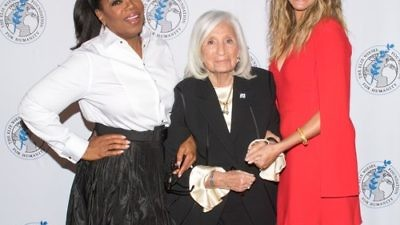 From left to right, Oprah Winfrey, Marion Wiesel and Julia Roberts at The Elie Wiesel Foundation for Humanity's gala last week in New York City. Winfrey received the foundation's inaugural Legacy Award. Credit: The Elie Wiesel Foundation for Humanity.