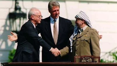 The signing of the Oslo Accords on Sept. 13, 1993. Credit: Vince Musi/The White House.