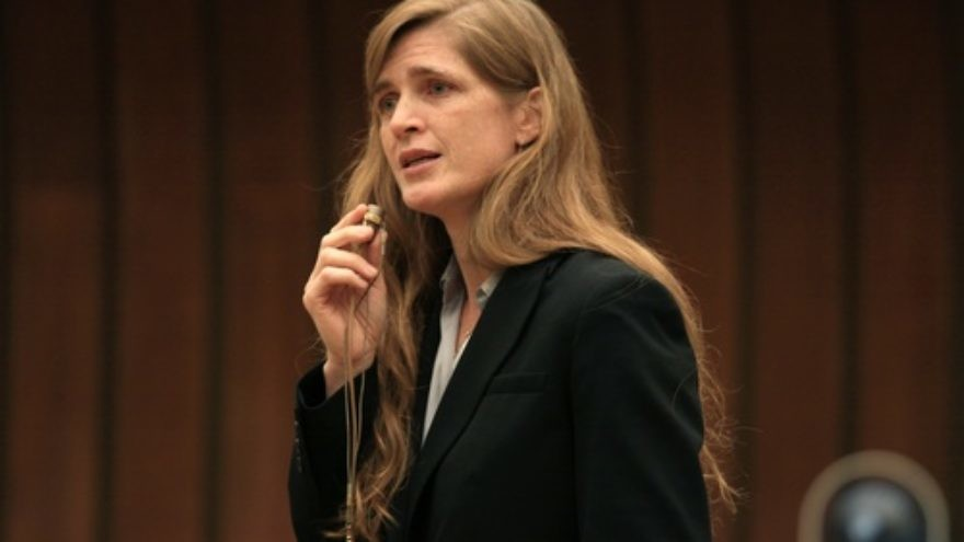 Samantha Power, the new U.S. Ambassador to the U.N. Credit: Eric Bridiers.