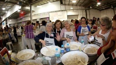 Challah baking in Sydney, Australia, for The Shabbat Project in 2014. Credit: The Shabbat Project.
