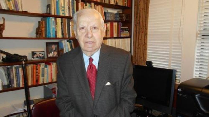 Dr. Randolph L. Braham (pictured), a prominent Holocaust historian and a survivor from Hungary, chose to return an award—the Medium Cross of the Order of Merit of the Hungarian Republic—that he received from the Hungarian government in 2011, in a personal protest against the government's planned Holocaust memorial. Credit: Courtesy Dr. Randolph L. Braham.