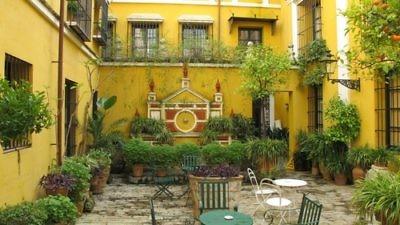 Click photo to download. Caption: Hotel Casa de la Juderia in Santa Cruz, Sevilla. Credit: Irvina Lew.