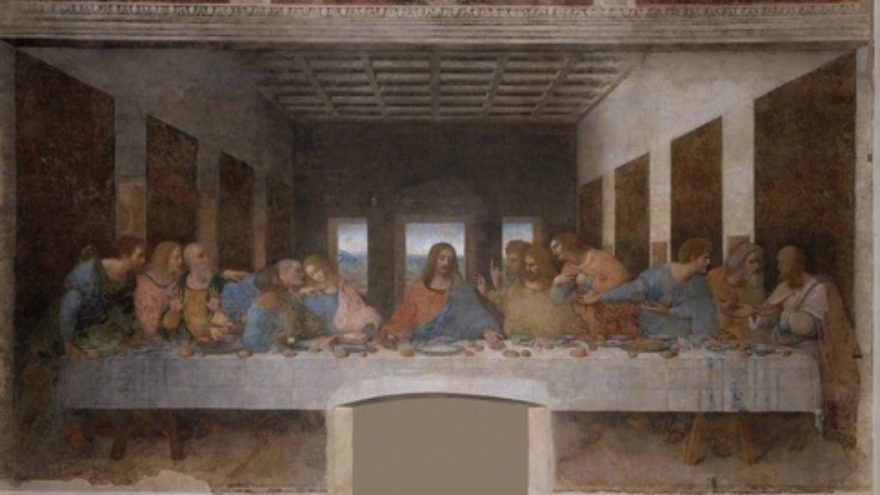 Click photo to download. Caption: Leonardo da Vinci's mural painting of the Last Supper, located at the Convent of Santa Maria delle Grazie in Milan, Italy. Nothing reattaches Christians to their Jewish roots faster than realizing the Last Supper was actually a Passover seder meal being led by a Jewish rabbi, writes David Parsons. Credit: PD-Art.